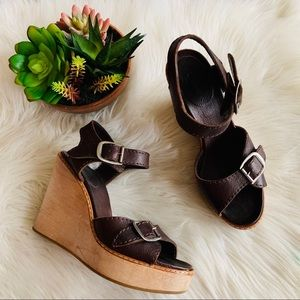 Chloe | Brown Leather Wedges Made in Italy 🇮🇹 9